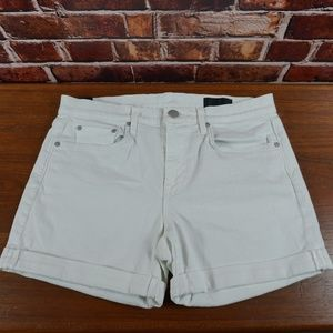 White Vince Relaxed Jean Shorts 28-29
